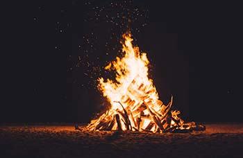 Brandsäkerhet i hemmet - Eldning hemma på tomten