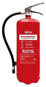 Nexa brandsläckare 6kg pulver.- brandsläckare bäst i test