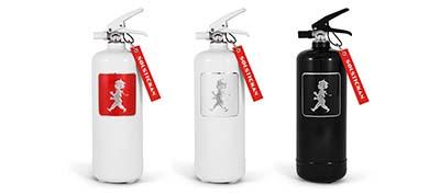 Solstickan designad brandsläckare - olika färger